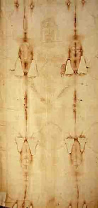 The Garden Tomb and the Shroud are Linked | Front View of the Shroud | Blood Stains