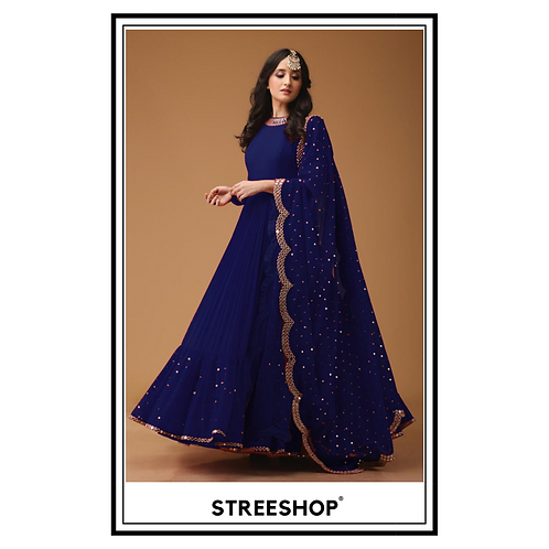 Blue Peak Gown by StreeShop