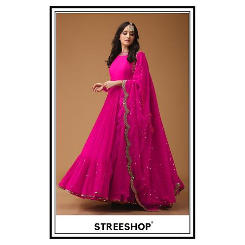 Pink Peak Gown by StreeShop