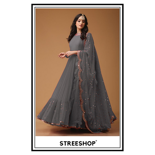 Grey Peak Gown by StreeShop