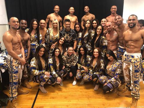 Miss Tara with JLO dancers