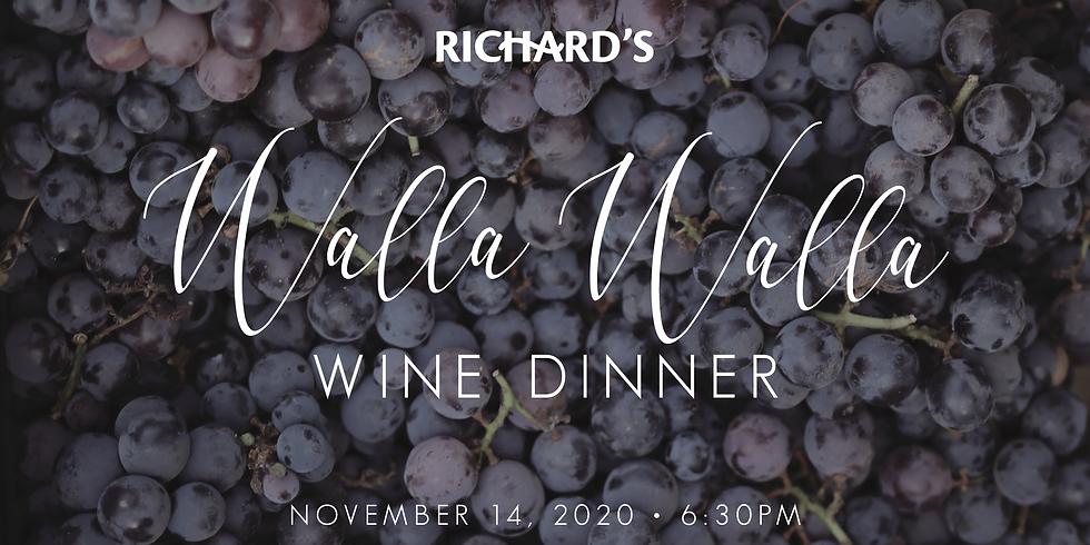 Walla Walla Wine Dinner