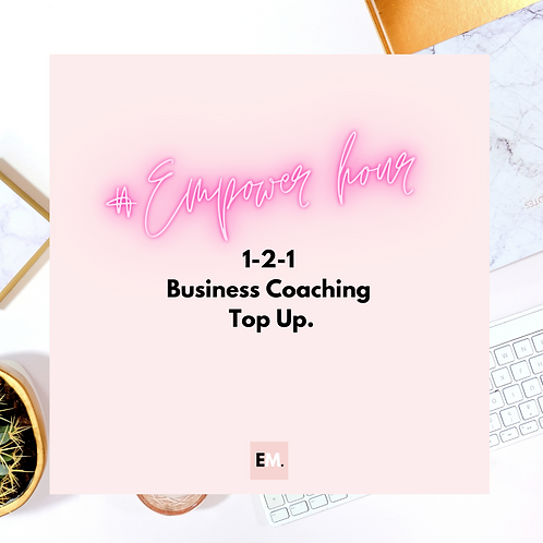1-2-1 Business Coaching Top Up
