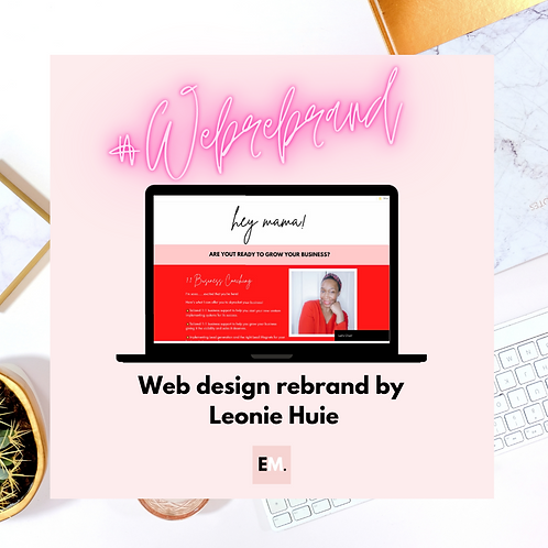 Web Rebrand For Mums In Business