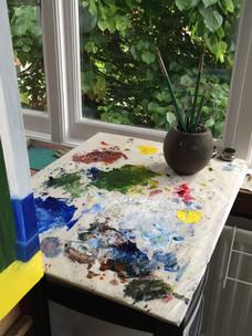Palette in studio