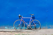 Vélo sur le mur