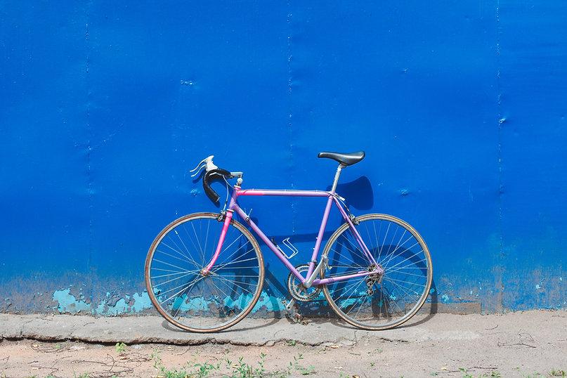 벽에 자전거