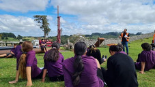 WWLA staff Hagen with the students from Te Kura Kaupapa Māori o Kaikohe