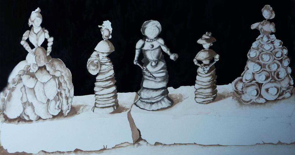 shell women painting