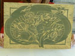 woodcut workshop 2 plate