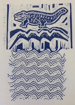 Croc Indian Print