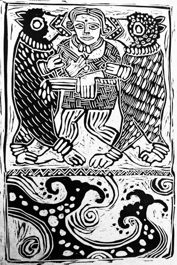Viking Woman Woodcut