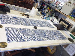 Printing the long woodcuts (5)