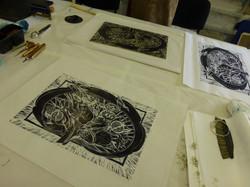 woodcut workshop 2 prints