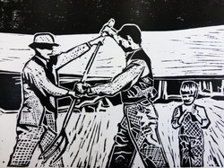 What We Do For Fun Round Here Woodcut
