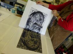 woodcut workshop 2 printing