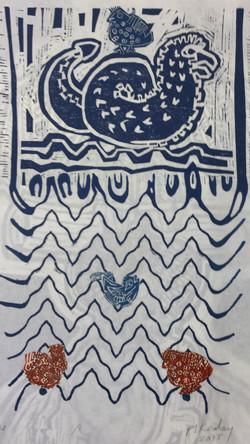 Sea Creatures And Birds