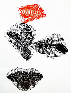 Bug Party Wood Engraving 02