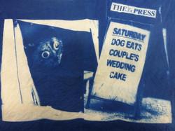 Fave Press Headline - Dog Eats Couple's Wedding Cake