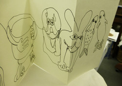 sketchbook pages kilpeck carvings 1