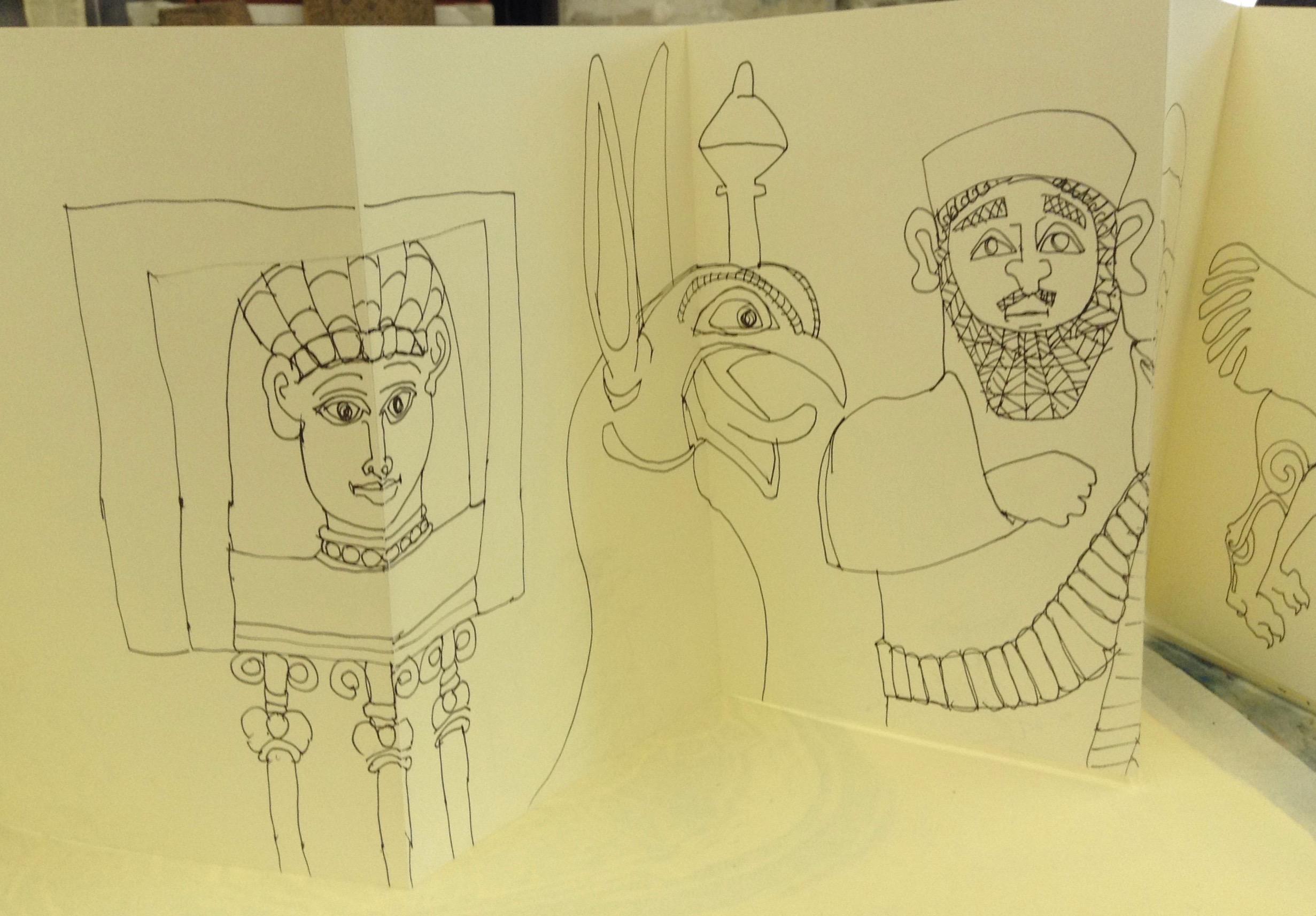 Assyrian Sketch Book 010