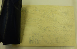 7 transferring traced drawing to block