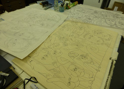 9 drawing tracing and transferred image kilpeck