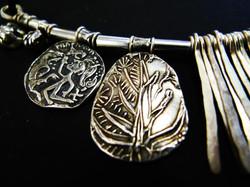 silver 3D print viking design