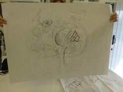 woodcut workshop 2 drawing