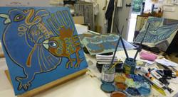 kilnwick paintings in studio