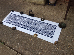 Printing the long woodcuts  (1)