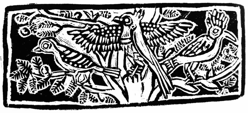 Egyptian Birds Wood Engraving