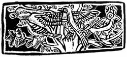 Egyptian Birds Wood Engraving