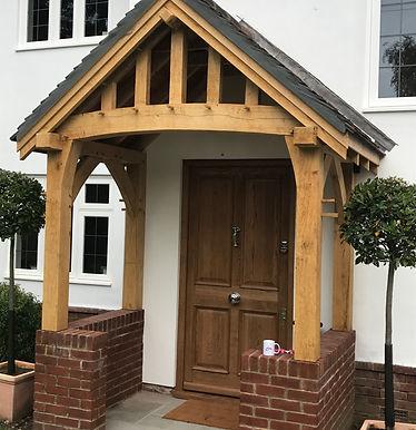 wooden entrance doors