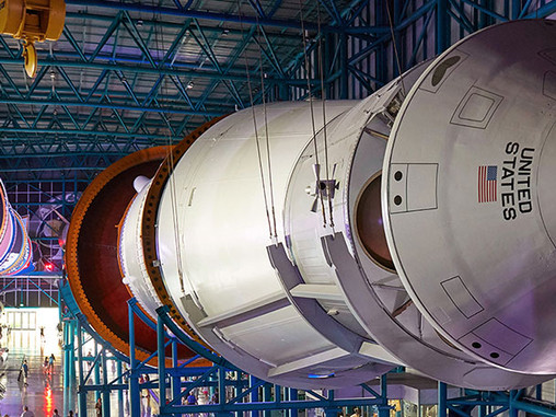 """Apollo/Saturn V exhibits at KSCVC to reopen """"Late March"""""""