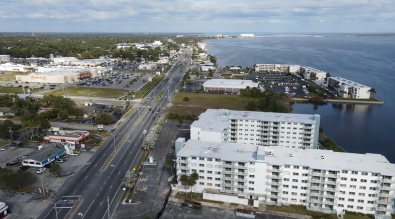 aerial photo of Titusville near Harrison Street captured by iSoarImages.com
