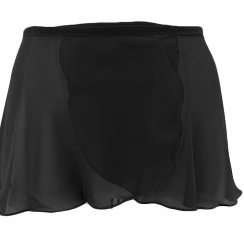 Teens Black Wrap CC130 Skirt