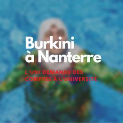 Burkini à Nanterre, l'UNI demande des comptes à l'université