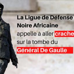 La Ligue de Défense Noire Africaine ira cracher sur la tombe du Général De Gaulle