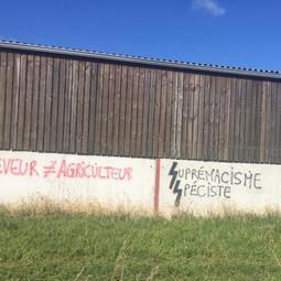 Nouveaux tags comparant les éleveurs aux nazis en Loire-Atlantique