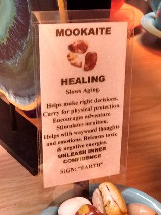Mookaite Stone - tumbled polished