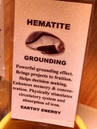 Hematite Stone - tumbled