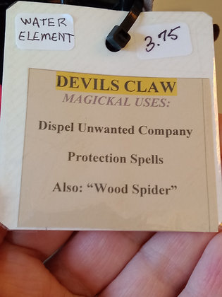 DEVILS CLAW dried herb in corked bottle