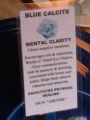 Blue Calcite Stone - raw