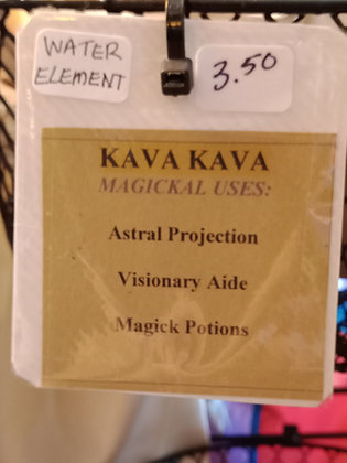 KAVA KAVA dried powdered herb in corked bottle