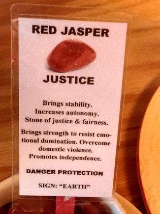 Red Jasper - tumbled polished stone