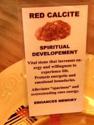 Red Calcite Stone, raw un-tumbled