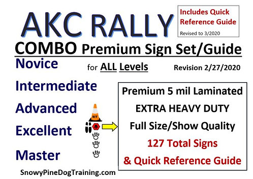 AKC COMBO SET - COMPLETE RALLY SIGN SET & GUIDE Revised March 2020