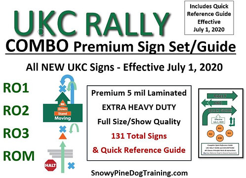 "UKC ""NEW"" RALLY COMBO COMPLETE SIGN SET & GUIDE eff. July 1, 2020"