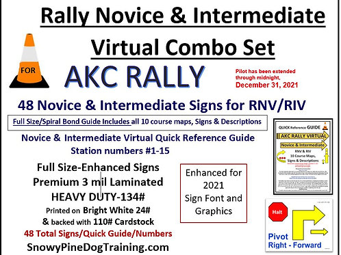 AKC RALLY NOVICE & INTERMEDIATE VIRTUAL COMBO SET